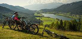 Mountainbiken vom See zum Berg
